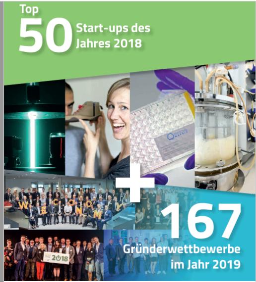 """Broschüre """"Top 50 Start-ups des Jahres 2018"""""""