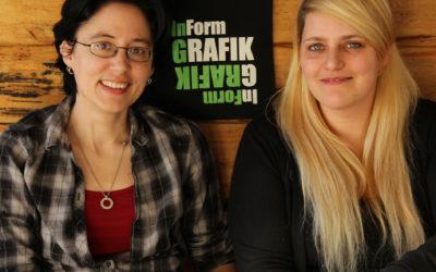 Unternehmerinnen in der Corona-Krise: Lisa Erben & Sabrina Diedrich von InForm Grafik